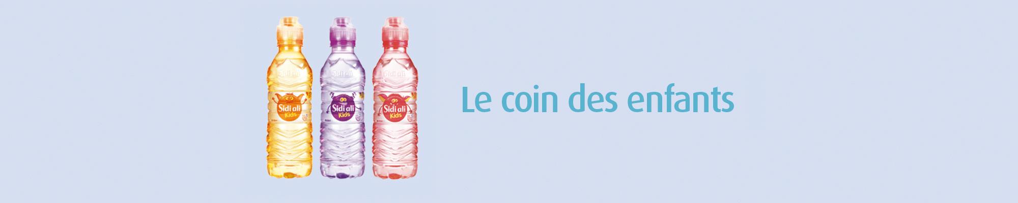 Sidi Ali Kids eau minérale pure non aromatisée. Livraison à domicile.